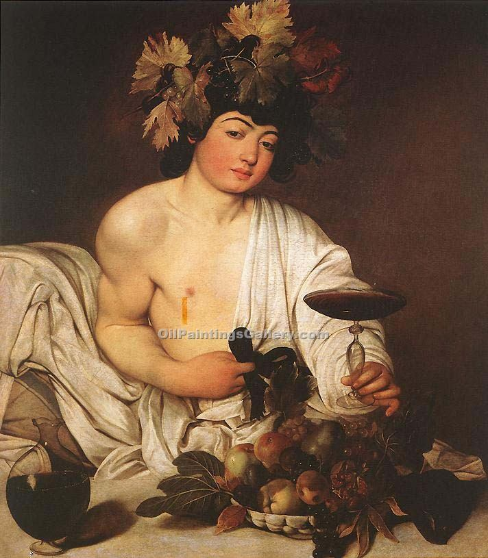Bacchus by Caravaggio | Art Online Store - Oil Paintings Gallery