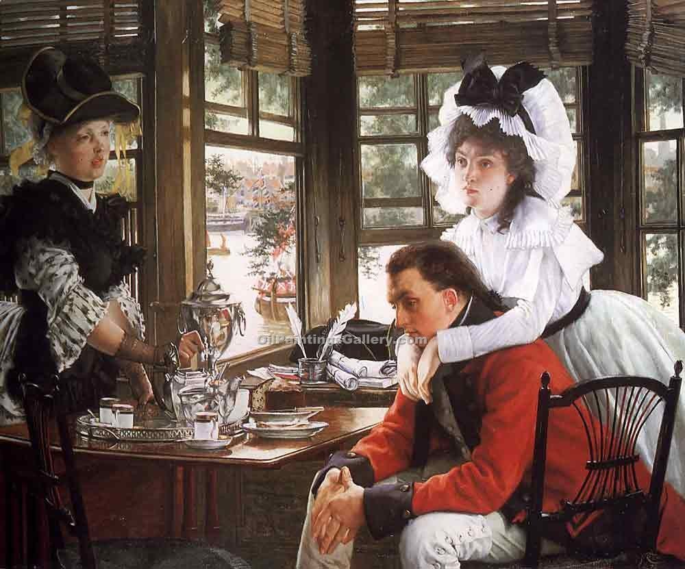 """Bad News"" by  James Tissot"