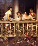 Balcony by  Eugene de Blaas (Painting ID: EI-0532-KA)
