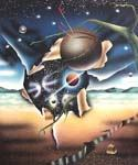 Ball In Space Oil Painting (ID: XB-9560-A)