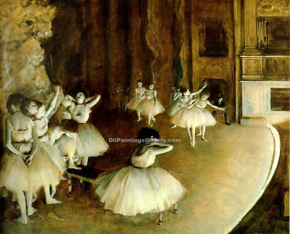 Ballet Rehearsal 08 by EdgarDegas | Painting Artists - Oil Paintings Gallery