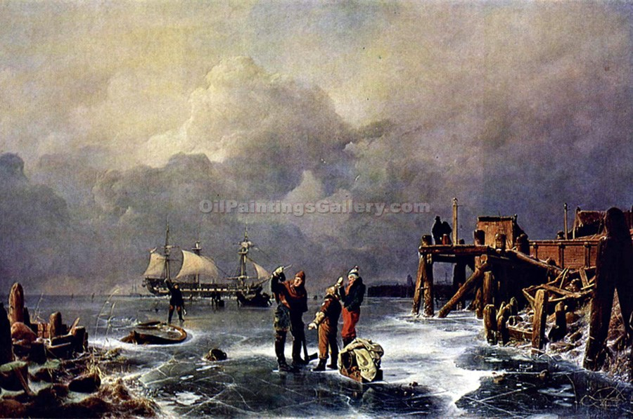 """Banks of the Frozen Ocean "" by  Andreas Achenbach"