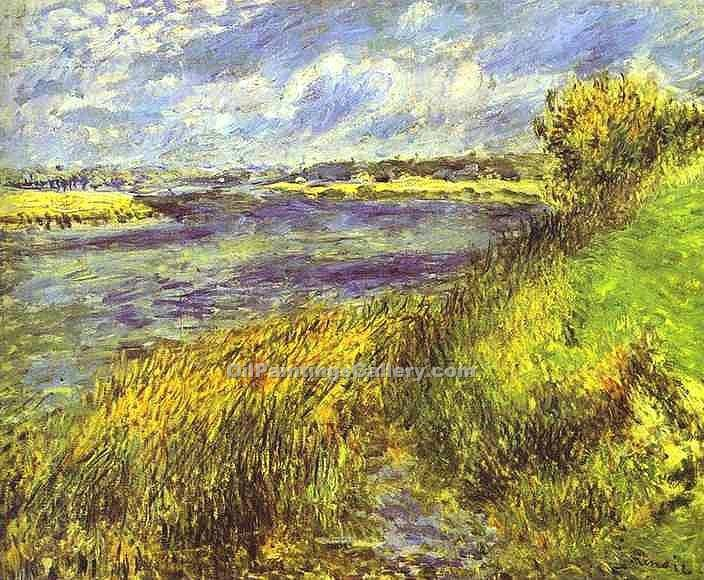 """Banks of the Seine at Champrosay"" by  Pierre Auguste Renoir"