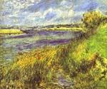 Banks of the Seine at Champrosay by  Pierre Auguste Renoir (Painting ID: CL-4604-KA)