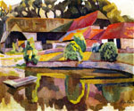 Barns and Pond in Charleston by  Roger Eliot Fry (Painting ID: LA-2666-KA)