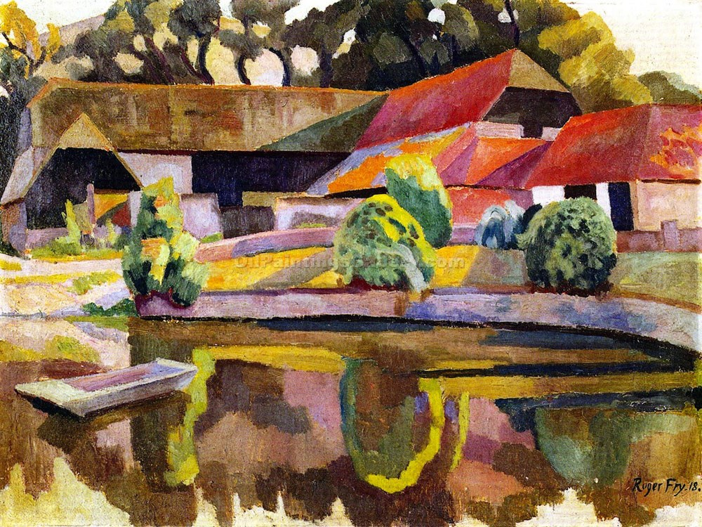 """Barns and Pond in Charleston"" by  Roger Eliot Fry"