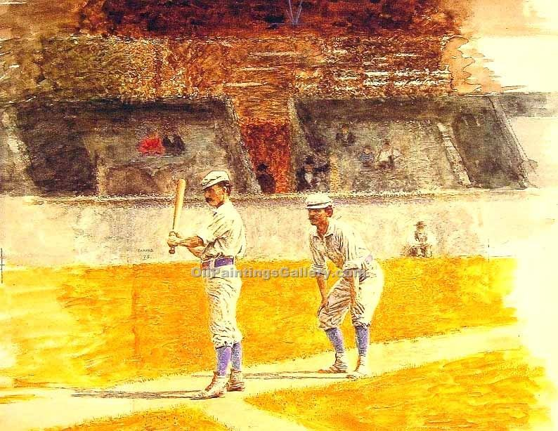 """Baseball Players Practicing"" by  Thomas Eakins"