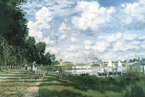 """Bassin d Argenteuil"" by  Claude Monet"