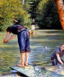 Bathers 90 by  Gustave Caillebotte (Painting ID: EI-0190-KA)