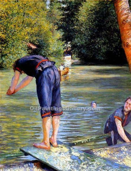 """Bathers 90"" by  Gustave Caillebotte"