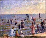 Bathing at Bellport by  William Glackens (Painting ID: CL-3212-KA)