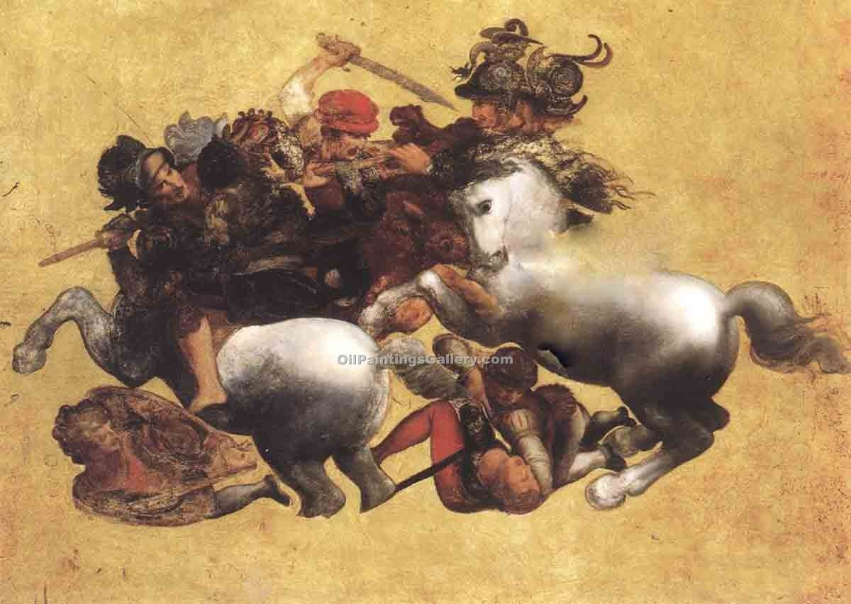"""Battle of Anghiari (Tavola Doria)"" by  Leonardo Da Vinci"
