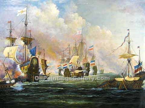Famous Painters' Reproduction Paintings Online | American Realism & Impressionism - Battle of Trafalgar