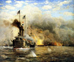 Battleships At War by  James Gale Tyler (Painting ID: LA-2174-KA)