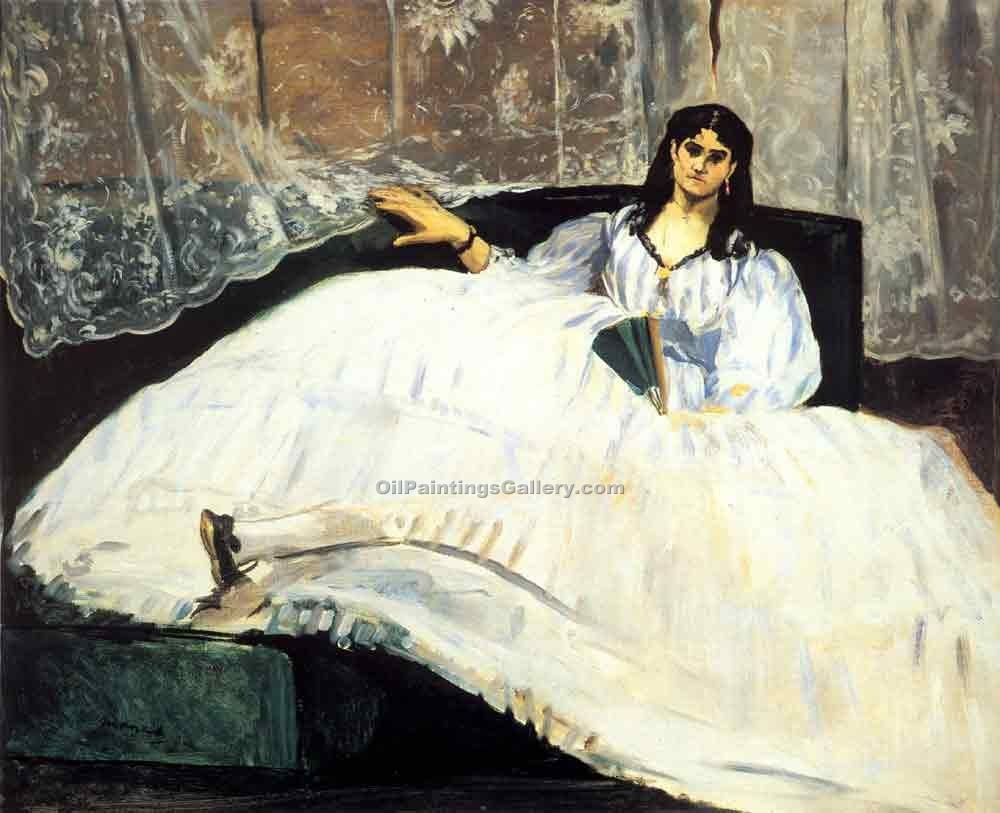 """Baudelaires Mistress Reclining"" by  Edouard Manet"