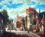 Bavarian Village 50  (Painting ID: CI-4150-KA)