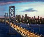 Bay Bridge Oil Painting (ID: CI-3031-B)