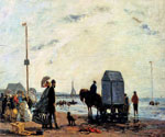 Beach Scene, Trouville by  Eugene Louis Boudin (Painting ID: LA-2382-KA)