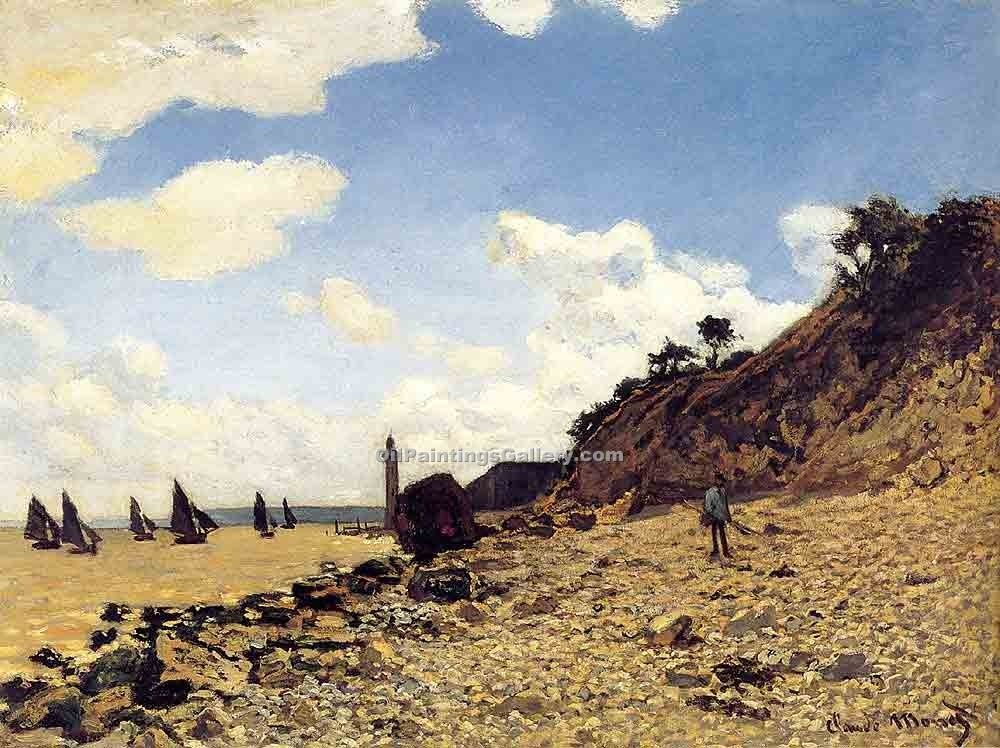 """Beach at Honfleux 99"" by  Claude Monet"