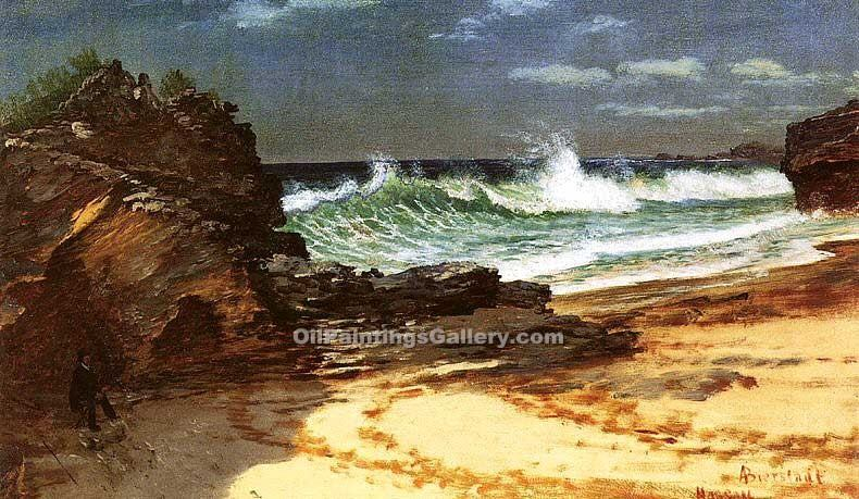 """Beach at Nassau"" by  Albert Bierstadt"
