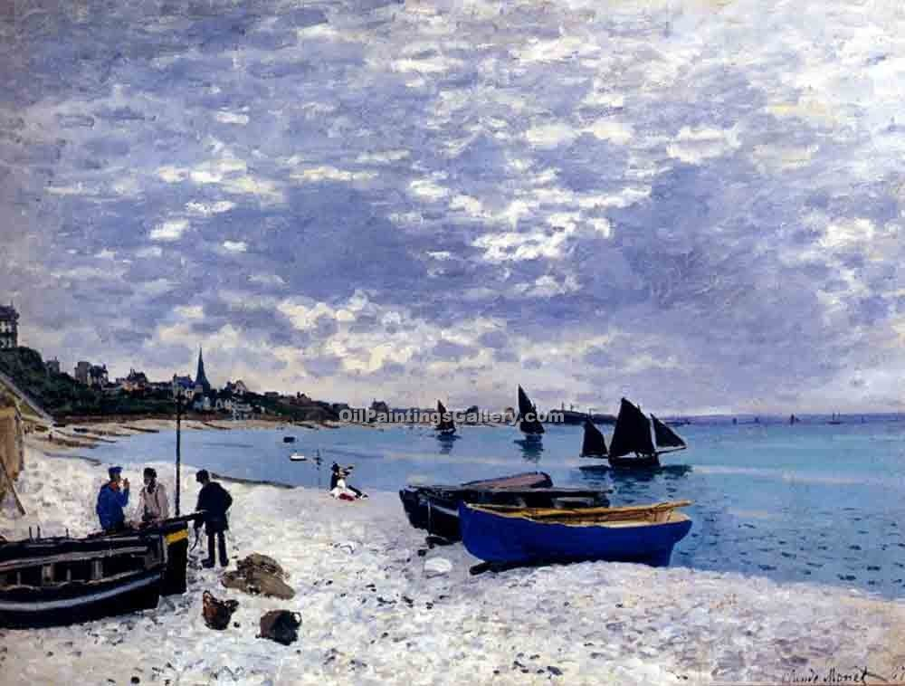 """Beach at Sainte Adresse"" by  Claude Monet"