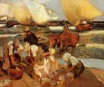 Beach at Valencia by  Bastida Joaquin Sorolla (Painting ID: CL-0756-KA)