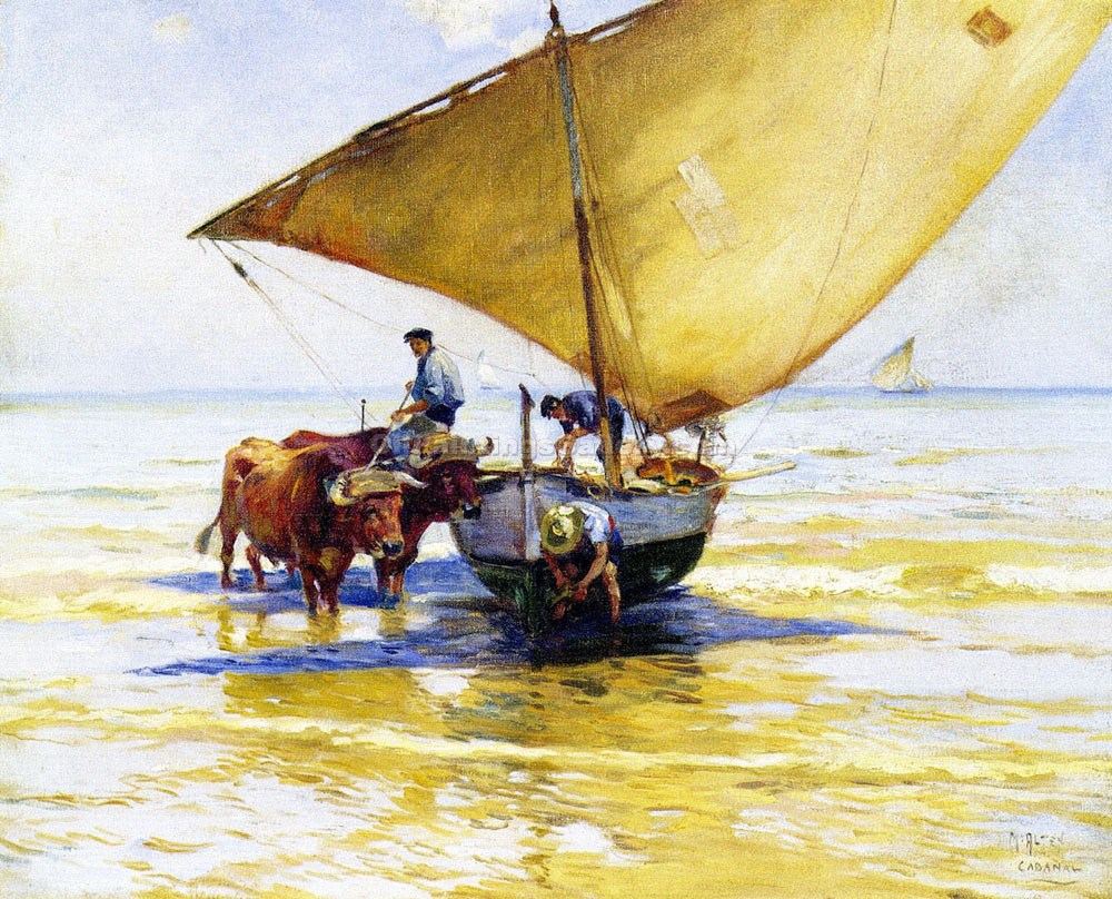 Beached by Mathias J. Alten | Oil Art Gallery - Oil Paintings Gallery