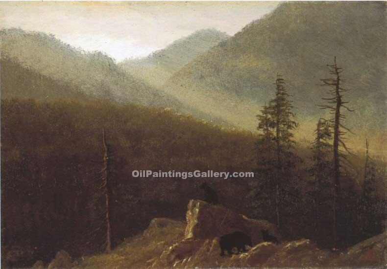 """Bears in the Wilderness"" by  Albert Bierstadt"