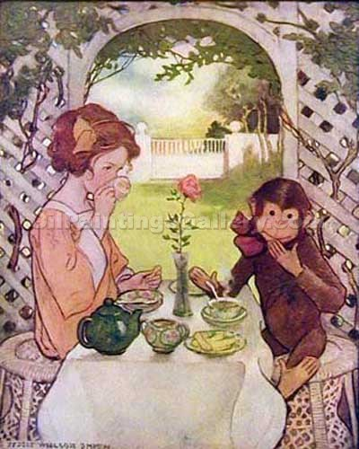 Beauty and the Beast by Smith Jessie Willcox | Paintings Of Famous Artists - Oil Paintings Gallery
