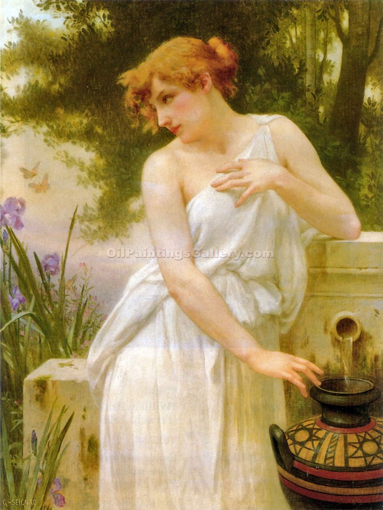 """Beauty at the Well"" by  Guillaume Seignac"