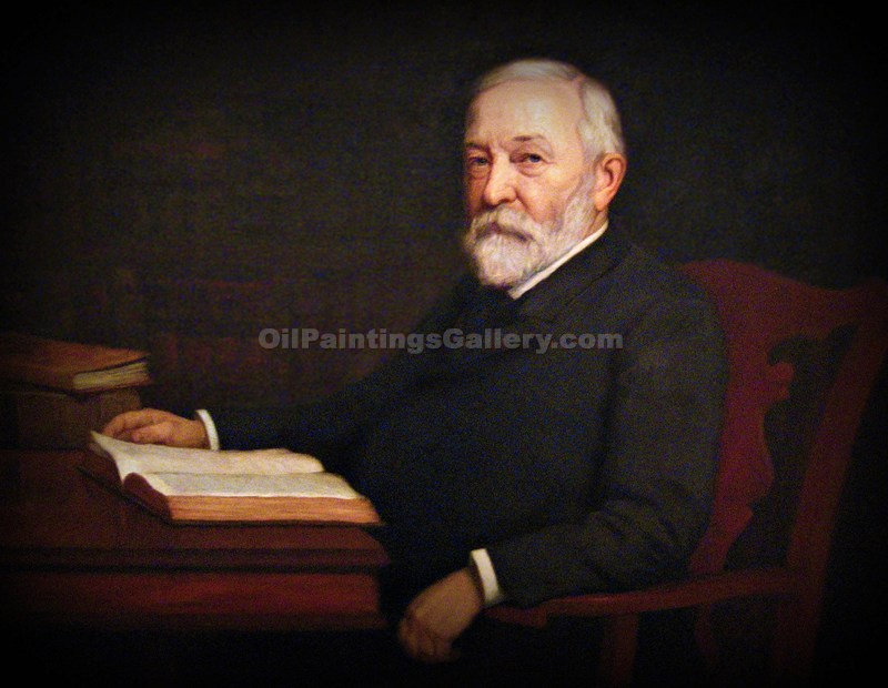 """Benjamin Harrison, 23 President, Painted by T.C. Steele"""