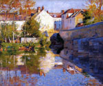 Beside the River by  Robert Vonnoh (Painting ID: LA-3442-KA)