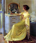 Bessie Potter Vonnoh at Her Dressing Table  by  Robert Vonnoh (Painting ID: ED-1238-KA)