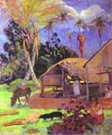 Black Pigs by  Paul Gauguin (Painting ID: GA-0246-KA)