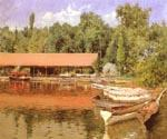 Boat House Prospect Park by  William Merritt Chase (Painting ID: ED-1480-KA)