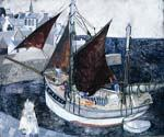 Boat in Harbour, Brittany by  Christopher Wood (Painting ID: LA-6262-KA)