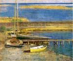 Boats at Landing by  Theodore Robinson (Painting ID: CL-4326-KA)