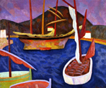Boats in Harbour, South of France by  Roger Eliot Fry (Painting ID: LA-2670-KA)