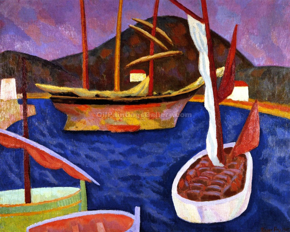 """Boats in Harbour, South of France"" by  Roger Eliot Fry"