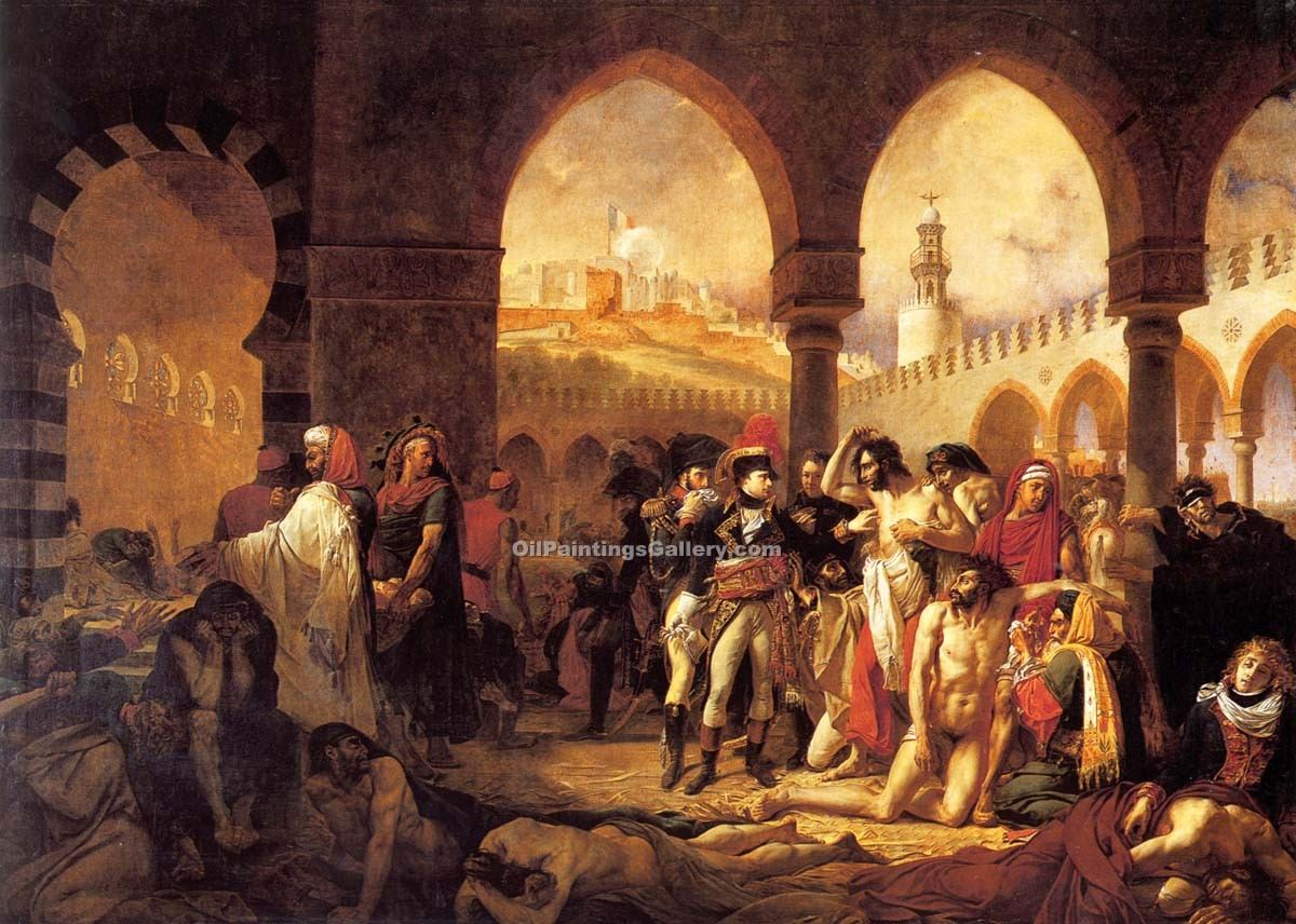 """Bonaparte Visiting the Pesthouse in Jaffa"" by  Antoine Jean Gros"