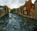 Bord de Riviere by  Fritz Thaulow (Painting ID: LA-0590-KA)