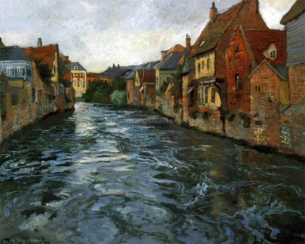 Bord de Riviere by Fritz Thaulow | Contemporary Art Paintings - Oil Paintings Gallery