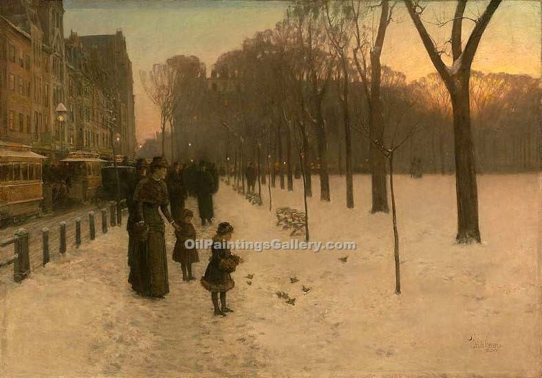"""Boston Common at Twilight"" by  Frederick Childe Hassam"