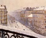 Boulevard Haussmann, Snow by  Gustave Caillebotte (Painting ID: CI-0720-KA)