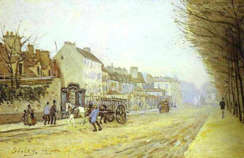 """Boulevard Heloise, Argenteuil"" by  Alfred Sisley"