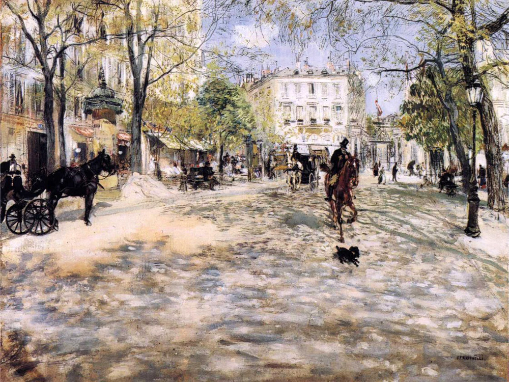 """Boulevard in Paris"" by  Jean Francois Raffaelli"