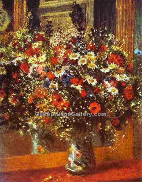"""Bouquet in Front of a Mirror"" by  Pierre Auguste Renoir"