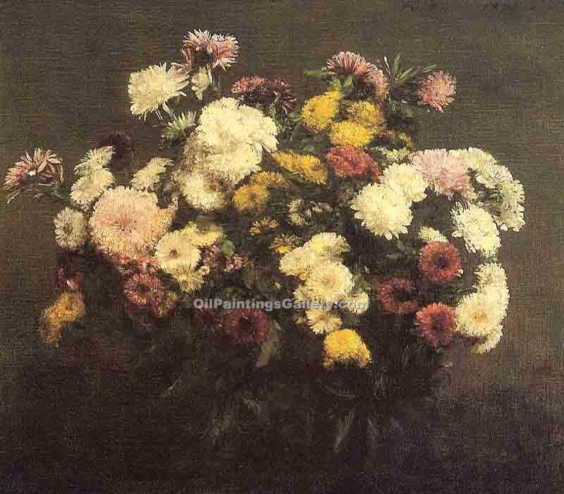 """Bouquet of Crysanthemums"" by  Henri Fantin Latour"