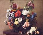 Bouquet of Diverse Flowers by  Henri Fantin Latour (Painting ID: SL-0161-KA)
