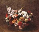 Bouquet of Flowers 69 by  Henri Fantin Latour (Painting ID: SL-0169-KA)